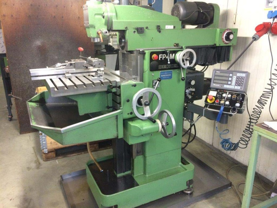 Conventional Milling Machine : Deckel fp m conventional milling machine used